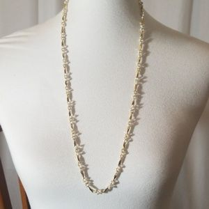 Gold Toned Faux Pearl Necklace